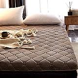 CNZXCO Tatami Boden matratze Faltung bettmatratze Japanischen futon-bodenmatte Gesteppte matratze ausgestattet, Gesteppter matratzenbezug Topper Schlafen pad Anti-rutsch-Grau 135x200cm(53x79inch)