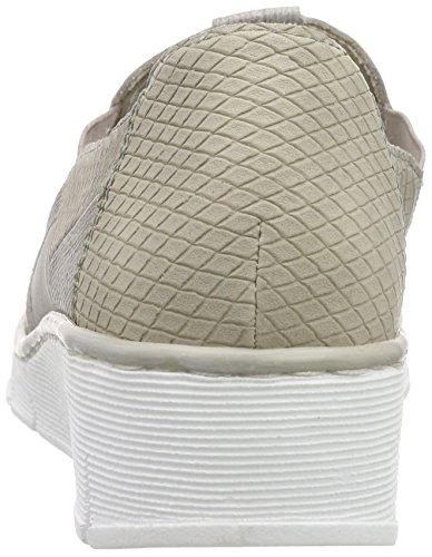 Rieker 53777 Women Loafers Damen Slipper Grau (steel/staub/grey/hay/champignon / 42)