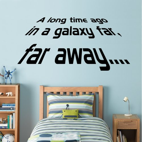 Price comparison product image Star Wars - A long Time Ago - Wall Decal Art Sticker boy's bedroom playroom hall (Large)