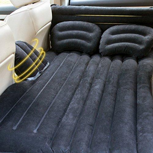 Kopf schützen Auto-aufblasbares Kissen, deluxes großes doppeltes klimatisiertes aufblasbares Bett mit elektrischer Pumpe und Kissen, Reise-kampierendes Luft-Bett, Beige, Schwarzes, Karikatur-Modelle