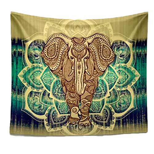 Mandala étnica Colgar De La Pared Manta Elefante Tapiz Inicio Granja Decoración De Playa Mat Mantón Yoga