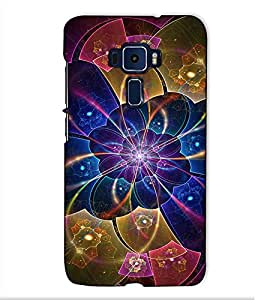 Fuson Designer Back Case Cover for Asus Zenfone 3 ZE520KL (5.2 Inches) (Blue designer pattern theme)
