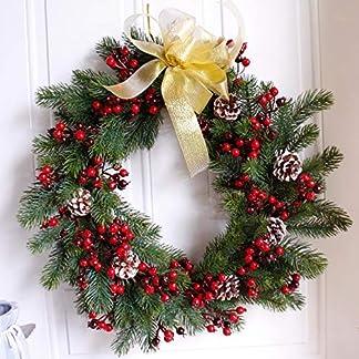 Dseap-Kranz-Fast-echt-508-cm-Kiefer-und-Pip-Beerenkranz-Weihnachts-Kranz-knstlicher-Laubkranz-gro-knstlich-rustikal-Bauernhaus-fr-Haustrfenster-rund-Grn-und-Rot