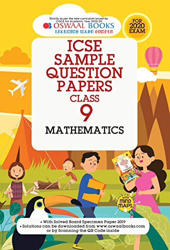 Oswaal ICSE Sample Question Papers Class 9 Mathematics Book (For March 2020 Exam)