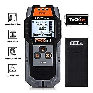 Rilevatore Digitale, TACKLIFE DMS03 Rilevatore di Metallo e Cavi Elettrici, Stud Finder, Scanner da parete Digitale… 51 B4QIBm L. SS300