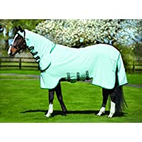 Horseware Rambo Sweetitch Hoody Ekzemerdecke mit Fliegenmaske Ice Green/Green 85 -165