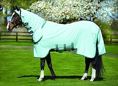 Horseware Rambo Sweetitch Hoody Ekzemerdecke mit Fliegenmaske Ice Green/Green 115-165 (140)