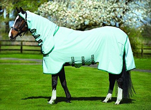 Horseware Rambo Sweetitch Hoody Ekzemerdecke mit Fliegenmaske Ice Green/Green 115-165 (130) -