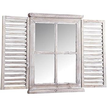 acrilico Esschert WD16 bianco Specchio con apertura a finestra