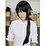 LanTing Cosplay Wig RWBY Black mix red Long Wigs tail WIKI LIE REN Cosplay Party Fashion Anime Human Costume Full wigs Synthetic Haar Heat Resistant Fiber