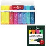 Textliner 1546 Textmarker, Packung mit 8 Markierern mit je 6 Textmarkern in Pastelltönen und 2 gelben Textmarkern + 3 + 1 Gratis-Packung mit Textliner 1549, fluoreszierend, Gelb, Orange, Rosa und Grün