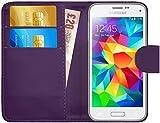 G-Shield Hülle für Samsung Galaxy S5 Mini Klapphülle mit Kartenfach (G800F) - Lila