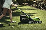 "Greenworks 40V Cordless Lawn Mower 41cm (16"") with 2Ah battery and charger - 2504707UA"