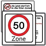 Einladungskarte zum Geburtstag als Verkehrsschild 30 Stück Einladung runder Geburstag jeder möglich 18. 30. 40 50. 65. Ortsschild Autobahn-schild für Männder und Frauen