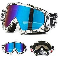Skibrille Motorradbrillen Schutzbrille,Winter Schnee Sport Snowboardbrille,Skibrille Für Damen Und Herren Jungen Und Mädchen