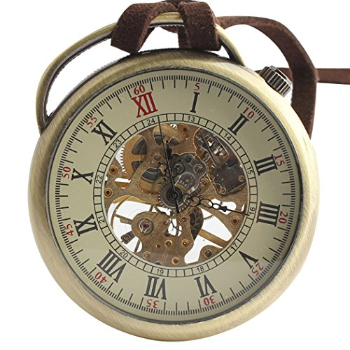 Orrorr Uhr Taschenuhr Halb Automatik Handaufzug Mechanisch Kette Pocket Watch Geschenk Gift reloj de montre de F016