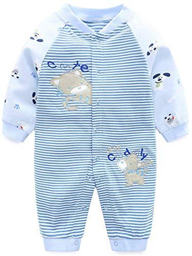 SANMIO Baby Strampler Spielanzug Jungen Mädchen Schlafanzug Baumwolle Langarm Overalls Säugling Romper Baby-Nachtwäsche (9-12 Monate, Katze)