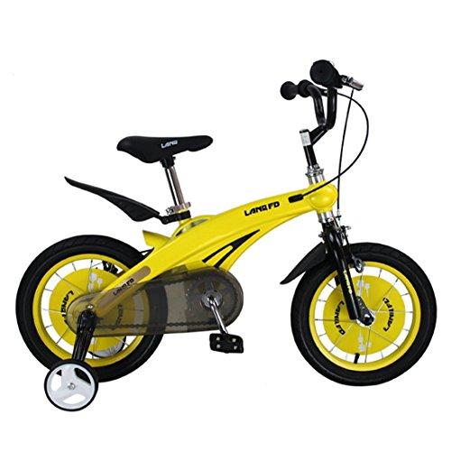 Bicyclette Pour Les Enfants Mountain Bike Boys Girls Balance Bike Cycle D'apprentissage De L'apprentissage De L'enfant Magnesium Alloy Bike ( Size : Yellow 14 )