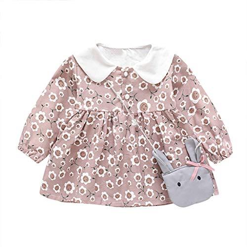 Unbekannt Allence Baby Mädchen Niedlich Herz Druck Kleider + Bären Tasche Kinder Langarm Mode - Niedliche Bären Kostüm Frauen