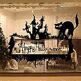 Halloween thriller katze kreative diy schaufenster wohnzimmer bar landschaftsbau dekorative wandaufkleber pvc abnehmbare 67x58 cm
