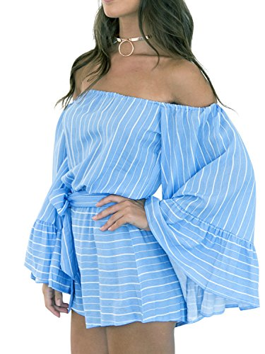 Simplee Apparel - Combinaison - Femme Bleu
