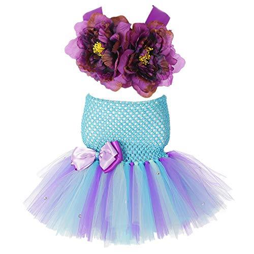m Tutu Kleid für kleine Mädchen Geburtstag Kleid, violett ()