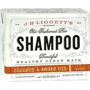 J.R. Liggett Bar Shampoo, Virgin Coconut Oil Aragan, 3,5 Oz.