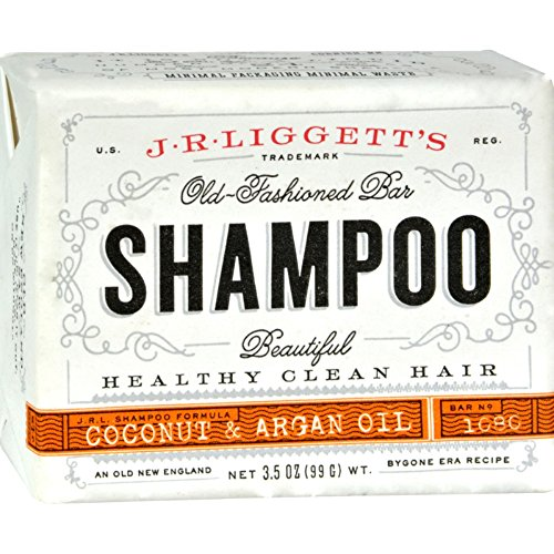 J.R. Liggett's, Shampoo Bar, Virgin Coconut & Argan Oil, 3.5 oz (99 g) - Curl Enhancing Foam