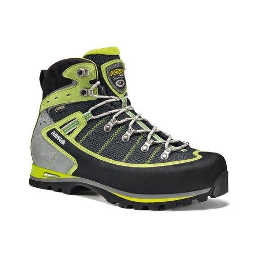 Asolo Shiraz Gv mm, Chaussures de Randonnée Hautes Homme Nero (Nero/Verde Lime)