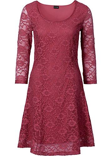 Zeagoo Damen 3/4 Ärmeln Spitzenkleid Festliches Kleid Partykleid A-Linie Kleider