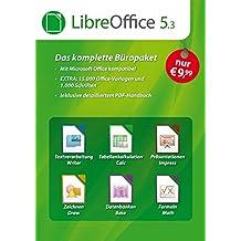 LibreOffice Software 5.3 Special Edition für Windows 10, 8.1, 7, Vista und XP - kompatibel zu Microsoft Office Word, Excel, PowerPoint und Office 365 inkl. PDF Handbuch, 15.000 Office Vorlagen