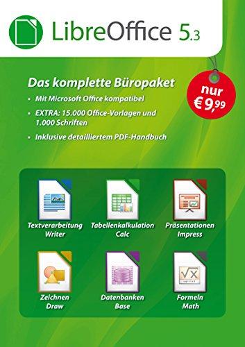 LibreOffice Software 5.3 Special Edition für Windows 10, 8.1, 7, Vista und XP - kompatibel zu Microsoft Office Word, Excel, PowerPoint und Office 365 inkl. PDF Handbuch, 15.000 Office Vorlagen - Windows Xp Office Microsoft