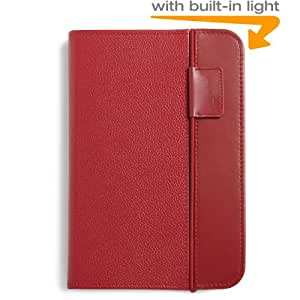 Amazon Kindle Keyboard Lighted Leather Cover, Burgundy Red (only fits Kindle Keyboard)