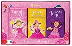 POOF-Slinky 0X3310 Ideal Pinkalicious Golden Wands, Cupcake Snack and Princess Purple Playing Card Games with Victoria Kann Artwork, 6-Games Total by Ideal TOY (English Manual)