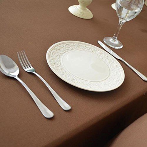 NiSeng Nappe de Table Polyester Rectangulaire Carrée - Nappes Anti Taches/Nappe Decoration pour Mariage, Cuisine d Exterieur Café 140x140 cm