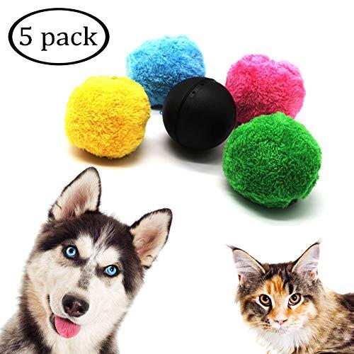 Interattivo Giocattolo per Animali Domestici Silicone Wicked Ball Fun Toy per Cane e Gatto Impermeabile Palla Elettrica USB Palla Rotante Automatica con Luce LED Lampeggiante Giallo
