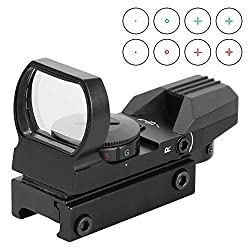 Esslnb Airsoft Red Dot Visier Sight Scope Reflexvisier Reflex Sight Für 20mm22mm Weaver Oder Picatinny Railsysteme Mit Montage Und Schutzkappe (Red Dot Visier)