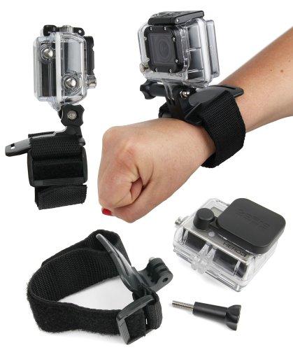 DURAGADGET Sangle poignée / bracelet de fixation noir ajustable pour caméscope GoPro...