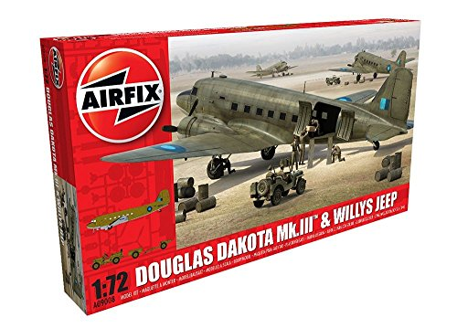 Airfix A09008 - Modellbausatz Douglas Dakota MkIII with Willys Jeep