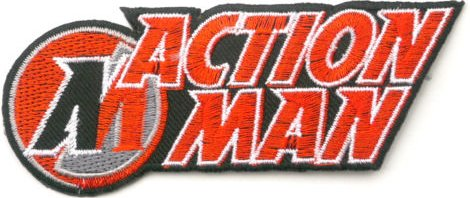 Image of Action Man Embroidered Badge Patch Iron or Sew on 12cm x 4.5cm