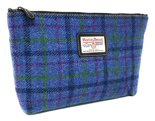 Harris Tweed Blau Schottenkaro Pflege Washbag