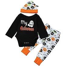 halloween disfraces niños ropa bebe niño invierno 2017 Switchali otoño recien nacido Bebé Niña manga larga Camisetas mono + Pantalones largos Conjuntos de ropa mamelucos