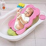 iBaste Baby Badeschwamm Pad Badewannenkissen Badekissen Antirutsch Kissen Polster für Badewanne Badekissen Schwimmkissen Badekissen für Badewanne