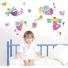 BestOfferBuy Pegatinas para Decorar con Forma de Hadas Infantiles Sonrientes de Colores