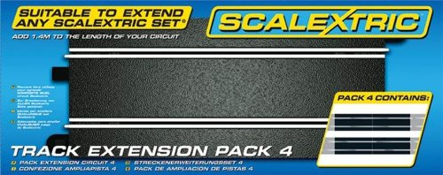 Scalextric Track (Scalextric 500008526 - 1:32 Track Extension Pack 4, 4 x 35 cm)