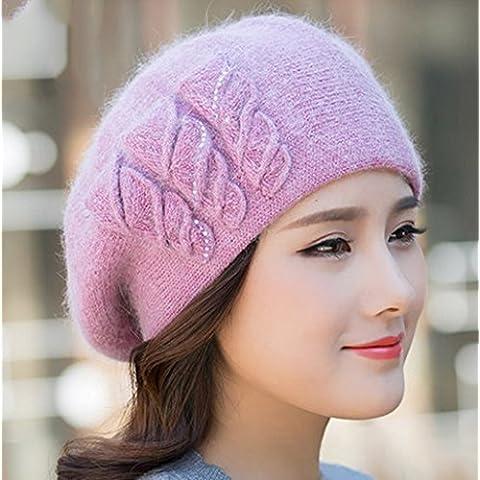 Sombrero De Otoño E Invierno Hembra Hechas A Mano Hechas De Moda Hacer Punto ( Color : 3# )