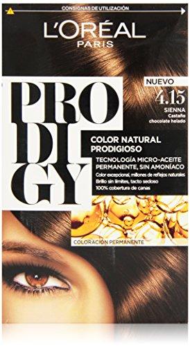 L'Oreal Tintura per Capelli, Prodigy Coloración Permanente, 15, 4.-Sienna