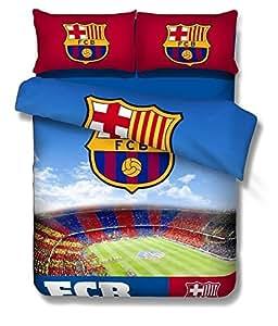 Chinaz Beddings Hot vente! BARCELONE-Football Barcelona F.C. Parure de lit Motif Football Fans de Chelsea pour enfant/garçon/homme GiftIt anniversaire Noël pour un Pc ou une couleur Par lot.