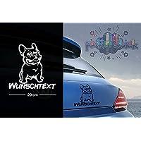 Französische Bulldogge #22 | Tier | Wunschtext | Auto Aufkleber | Hund