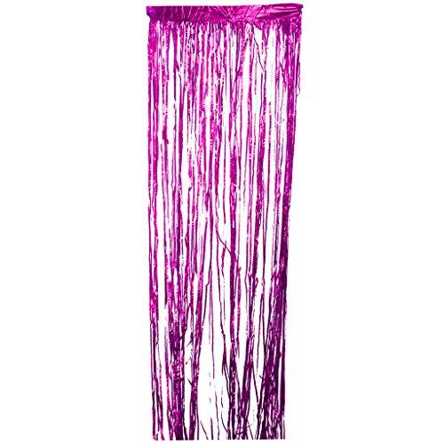 Homyl Metallfolie Vorhänge, Folien Fransen Glänzend Vorhang Tür Fenster Dekoration für Geburtstag, Hochzeit Party - Rose (Kunststoff-fransen-girlande)